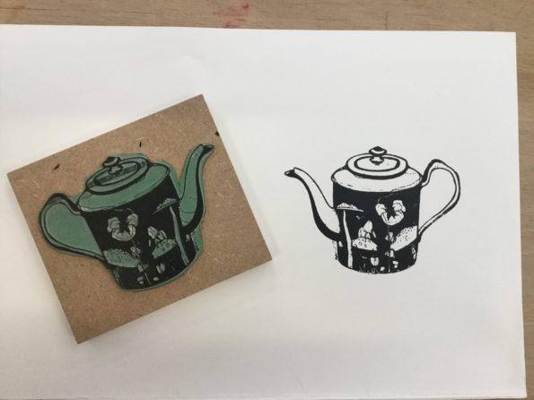 tampon réalisé à partir d'un illustration